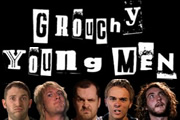 Grouchy Young Men. Image shows from L to R: Jon Richardson, Donny Tourette, Jim Jefferies, Jack P. Shepherd, Seann Walsh. Copyright: Liberty Bell.