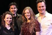 The Guns Of Adam Riches. Image shows from L to R: Cariad Lloyd, Adam Riches, Katharine Bennett-Fox, Jim Johnson. Copyright: BBC.