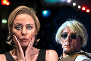 Hey Diddly Dee. Image shows from L to R: Bibbi (Kylie Minogue), Roger (Peter Serafinowicz). Copyright: Sprout Pictures.