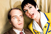 Hi-De-Hi!. Image shows from L to R: Jeffrey Fairbrother (Simon Cadell), Gladys Pugh (Ruth Madoc). Image credit: British Broadcasting Corporation.