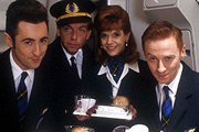 The High Life. Image shows from L to R: Sebastian Flight (Alan Cumming), Captain Hilary Duff (Patrick Ryecart), Shona Spurtle (Siobhan Redmond), Steve McCracken (Forbes Masson).