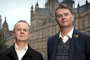Have I Got News For You. Image shows from L to R: Ian Hislop, Paul Merton. Image credit: Hat Trick Productions.