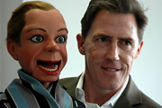 His Master's Voice. Image shows from L to R: Archie Andrews (Rob Brydon), Peter Brough (Rob Brydon).