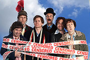 Holy Flying Circus. Image shows from L to R: Terry Gilliam (Phil Nichol), Graham Chapman (Tom Fisher), Michael Palin (Charles Edwards), John Cleese (Darren Boyd), Terry Jones (Rufus Jones), Eric Idle (Steve Punt). Image credit: Hillbilly Films.