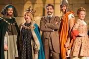 Horrible Histories. Image shows from L to R: Mathew Baynton, Jim Howick, Ben Willbond, Simon Farnaby, Martha Howe-Douglas. Image credit: Lion Television.