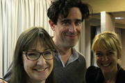 I'm A Believer. Image shows from L to R: Mary (Pauline McLynn), Simon (Stephen Mangan), Jane (Claudie Blakley). Copyright: BBC.