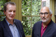 Imagine: The Art Of Stand-Up. Image shows from L to R: Frank Skinner, Alan Yentob. Copyright: BBC.