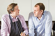 Image shows from L to R: Miles Jupp, Justin Edwards.