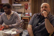 Navid And Johnny. Image shows from L to R: Johnny (Stephen K Amos), Navid (Omid Djalili). Copyright: BBC.