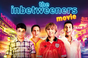 The Inbetweeners Movie. Image shows from L to R: Will MacKenzie (Simon Bird), Simon Cooper (Joe Thomas), Jay Cartwright (James Buckley), Neil Sutherland (Blake Harrison). Image credit: Bwark Productions.