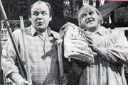 Inside George Webley. Image shows from L to R: George Webley (Roy Kinnear), Mr Marigold (Les Dawson). Copyright: Yorkshire Television.