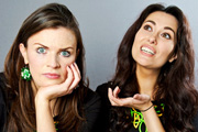 Irish Micks And Legends. Image shows from L to R: Aisling Bea, Yasmine Akram. Copyright: Green Dragon Media.