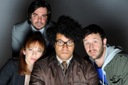 The IT Crowd Manual. Image shows from L to R: Matt Berry, Katherine Parkinson, Richard Ayoade, Chris O'Dowd. Copyright: Retort.