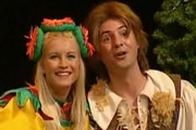 Jack & The Beanstalk. Image shows from L to R: Jill (Denise Van Outen), Jack (Neil Morrissey). Image credit: Wishbone Productions.