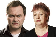 Jack And Jo's Yo-Ho-Ho. Image shows from L to R: Jack Dee, Jo Brand. Copyright: Open Mike Productions.
