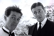 Jeeves And Wooster. Image shows from L to R: Bertie Wooster (Hugh Laurie), Jeeves (Stephen Fry). Image credit: Picture Partnership Productions.