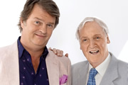 Just A Minute. Image shows from L to R: Paul Merton, Nicholas Parsons. Image credit: British Broadcasting Corporation.