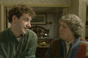 Keeping Mum. Image shows from L to R: Andrew Beare (Martin Ball), Peggy Beare (Stephanie Cole). Copyright: BBC.