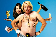 Keith Lemon: The Film. Image shows from L to R: Kelly Brook, Keith Lemon (Leigh Francis). Image credit: Generator Entertainment.