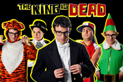 The King Is Dead. Image shows from L to R: Simon Bird, Katy Wix, Simon Bird, Nick Mohammed, Simon Bird. Copyright: TalkbackThames.