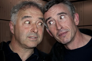 Knowing Steve, Knowing You. Image shows from L to R: Frank Cottrell Boyce, Steve Coogan. Copyright: BBC.