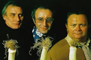 The Last Goon Show Of All. Image shows from L to R: Count Jim Moriarty (Spike Milligan), Hercules Grytpype-Thynne (Peter Sellers), Neddie Seagoon (Harry Secombe). Copyright: BBC.