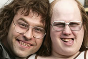 Little Britain. Image shows from L to R: David Walliams, Matt Lucas. Image credit: British Broadcasting Corporation.
