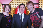 Live At The Apollo. Image shows from L to R: Sarah Millican, Rob Brydon, Jason Byrne. Copyright: Open Mike Productions.