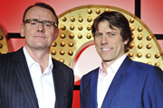 Live At The Apollo. Image shows from L to R: Sean Lock, John Bishop. Copyright: Open Mike Productions.