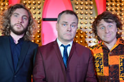 Live At The Apollo. Image shows from L to R: Seann Walsh, Jack Dee, Milton Jones. Copyright: Open Mike Productions.