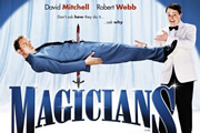 Magicians. Image shows from L to R: Karl (Robert Webb), Harry (David Mitchell).