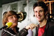 Mark Watson Makes The World Substantially Better. Image shows from L to R: Poet (Tim Key), Mark Watson. Copyright: BBC.