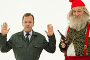 Marked. Image shows from L to R: James (Kiefer Sutherland), Father Christmas (Stephen Fry).