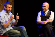 Mat Ricardo's London Varieties. Image shows from L to R: Dave Gorman, Mat Ricardo.