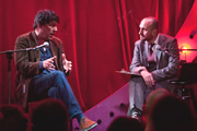 Mat Ricardo's London Varieties - Episode 2. Image shows from L to R: Graham Linehan, Mat Ricardo.