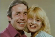 Me & My Girl. Image shows from L to R: Simon Harrap (Richard O'Sullivan), Samantha Harrap (Joanne Ridley). Copyright: London Weekend Television.