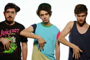The Midnight Beast. Image shows from L to R: Dru (Andrew Wakely), Stef (Stefan Abingdon), Ash (Ashley Horne). Copyright: Warp Films / Cuba Comedy.