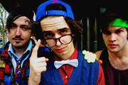 The Midnight Beast. Image shows from L to R: Andrew Wakely, Stefan Abingdon, Ashley Horne.