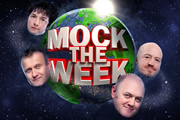 Mock The Week. Image shows from L to R: Hugh Dennis, Chris Addison, Dara O Briain, Andy Parsons. Copyright: Angst Productions.