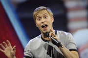 Mock The Week. Russell Howard. Copyright: Angst Productions.