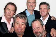 Image shows from L to R: Eric Idle, Terry Jones, John Cleese, Terry Gilliam, Michael Palin.