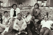 Monty Python Live At The Hollywood Bowl. Image shows from L to R: Michael Palin, Terry Jones, Eric Idle, Graham Chapman, Terry Gilliam, John Cleese. Copyright: Hand Made Films.