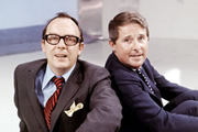 Morecambe & Wise: The Whole Story. Image shows from L to R: Eric Morecambe, Ernie Wise. Copyright: BBC.