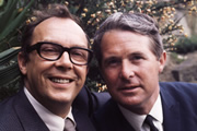 Image shows from L to R: Eric Morecambe, Ernie Wise.