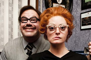 The Morgana Show. Image shows from L to R: Tom Davis, Morgana Robinson. Copyright: Running Bare Pictures.