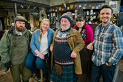 Mountain Goats. Image shows from L to R: Bill (David Ireland), Bernie (Kathryn Howden), Jimmy Miller (Jimmy Chisholm), Jules (Sharon Rooney), Conor (Kevin Mains). Copyright: BBC.