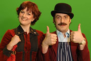 Mr And Mrs Fandango. Image shows from L to R: Barunka O'Shaughnessy, Tom Meeten. Image credit: Roughcut Television.