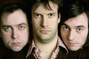 The Museum Of Everything. Image shows from L to R: Dan Tetsell, Marcus Brigstocke, Danny Robins.