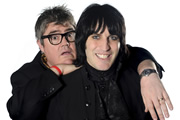 Never Mind The Buzzcocks. Image shows from L to R: Phill Jupitus, Noel Fielding. Copyright: TalkbackThames / BBC.