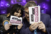Never Mind The Buzzcocks. Image shows from L to R: Noel Fielding, Phill Jupitus. Copyright: TalkbackThames / BBC.